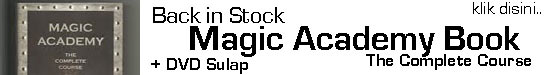 back in stock magic academy book sulap the master